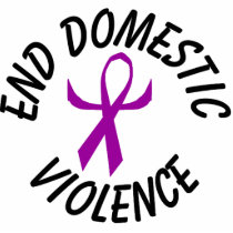 End Domestic Violence Ribbon Ornament (humanized)