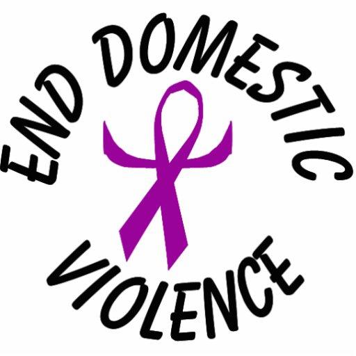 End Domestic Violence Ribbon Ornament (humanized) Photo Sculpture Ornament
