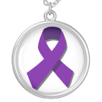 End Domestic Violence Silver Plated Necklace