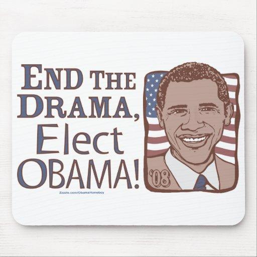 End Drama, Vote Obama Mousepad