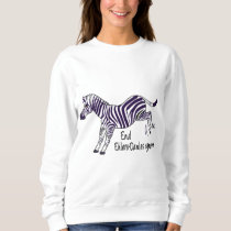 End Ehlers-Danlos Syndrome with Zebra Sweatshirt