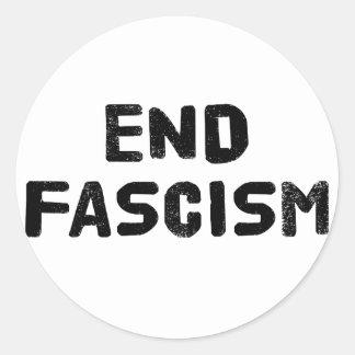End Fascism Classic Round Sticker