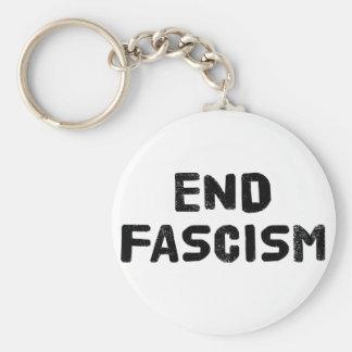 End Fascism Basic Round Button Keychain