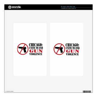 End Gun Violence Decal For Kindle Fire