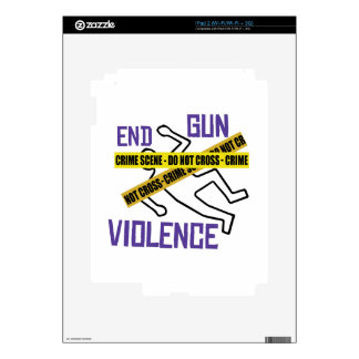 End Gun Violence Decal For The iPad 2