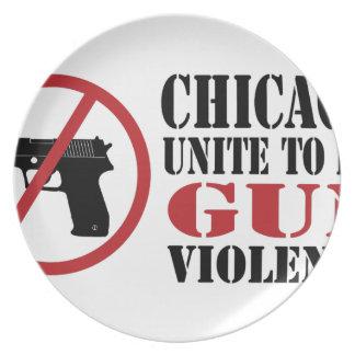 End Gun Violence Melamine Plate