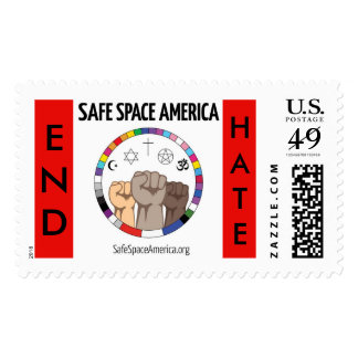 END HATE  with our logo stamps
