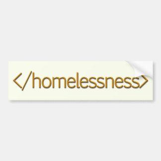 End Homelessness Bumper Sticker