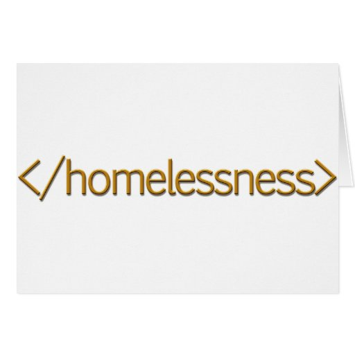 End Homelessness Greeting Cards