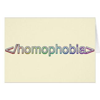 End Homophobia Card