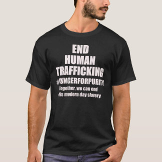 END HUMAN TRAFFICKING DRK wit T-Shirt
