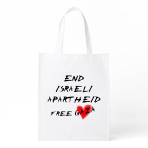 End Israeli Apartheid Free Gaza Grocery Bag
