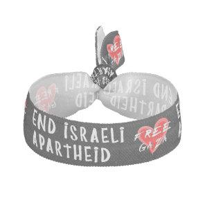 End Israeli Apartheid Free Gaza Hair Tie