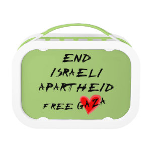 End Israeli Apartheid Free Gaza Lunch Box