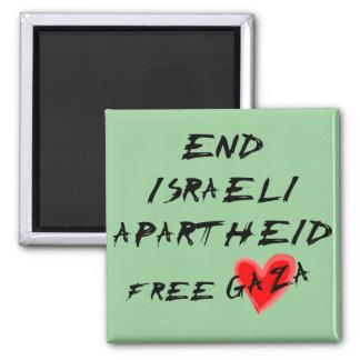 End Israeli Apartheid Free Gaza Magnet