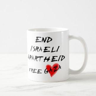 End Israeli Apartheid Free Gaza Classic White Coffee Mug