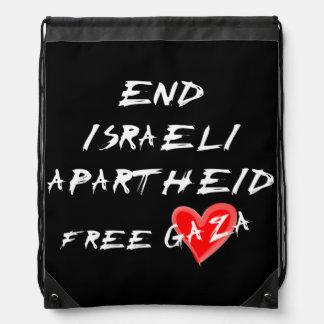 End Israeli Apartheid Free Gaza Cinch Bags