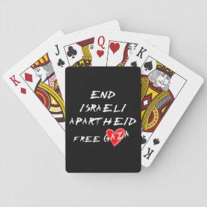 End Israeli Apartheid Free Gaza Playing Cards