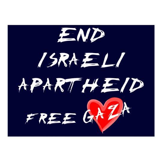 End Israeli Apartheid Free Gaza Postcard