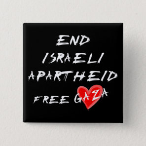 End Israeli Apartheid Free Heart Gaza button