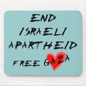 End Israeli Apartheid Mouse Pad