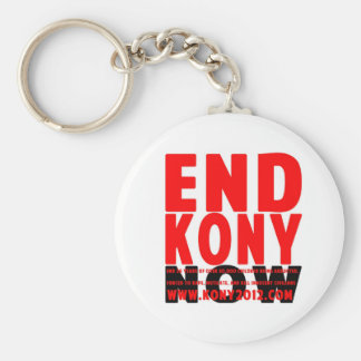 END KONY NOW 100% ProfitGoes2InvisibleChildrenFund Basic Round Button Keychain