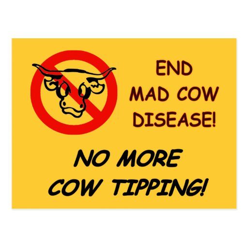 End Mad Cow Disease Postcards