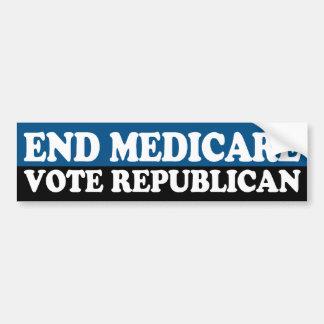End Medicare: Vote Republican Car Bumper Sticker