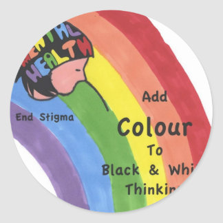End Mental Health Stigma Classic Round Sticker