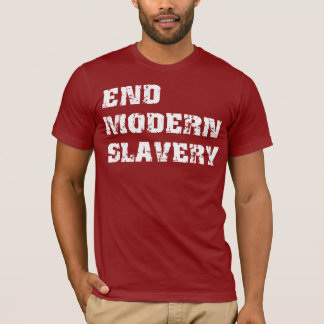 End Modern Slavery Basic American Apparel T-Shirt