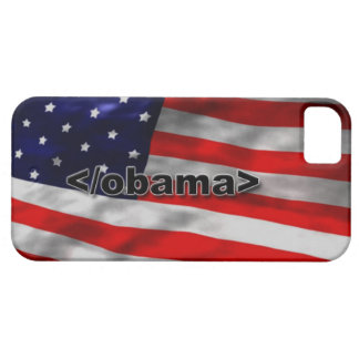 End Obama Code Black on White iPhone 5 Case