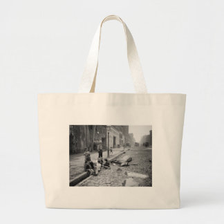 End of a Career, early 1900s. Canvas Bags