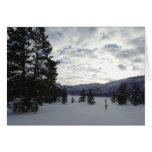 End of a Snowy Day in Yellowstone National Park Card