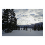 End of a Snowy Day in Yellowstone National Park Poster