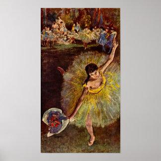 End of an Arabesque by Edgar Degas, Vintage Ballet Poster