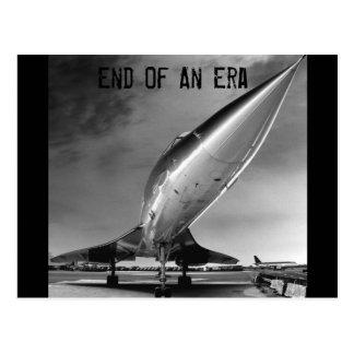 End of an Era, Concorde, New York Postcard
