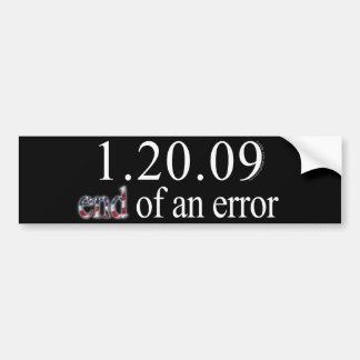 End of an Error Bumper Sticker
