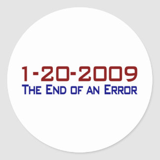 End Of An Error Classic Round Sticker