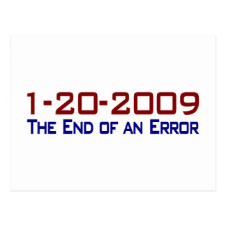 End Of An Error Post Card