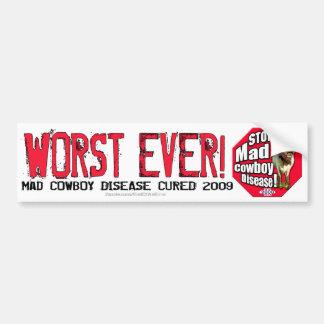 End of an Error: Worst Ever! Car Bumper Sticker