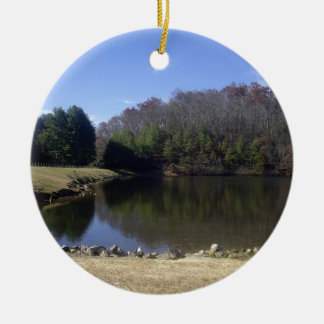 End of Autumn Double-Sided Ceramic Round Christmas Ornament