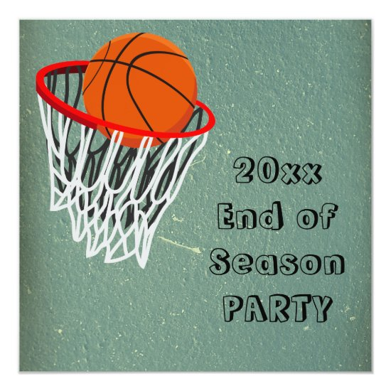 End of Basketball Season Party Invitation