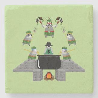 End of Capitalism - Penguin Stone Coaster