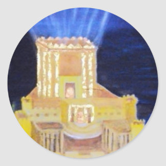 End of darkness classic round sticker