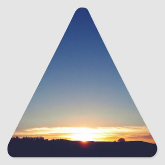 End Of Day Triangle Sticker