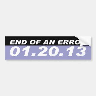 end of error bumper sticker