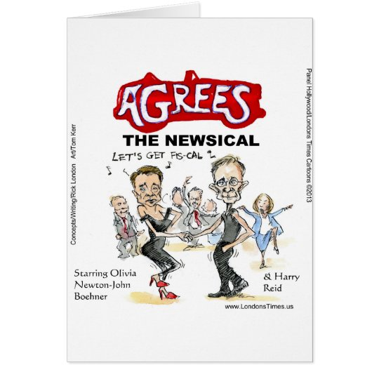 End Of Fiscal Cliff Funny Gifts Cards & Tees