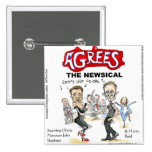 End Of Fiscal Cliff Funny Gifts Cards & Tees Pinback Buttons