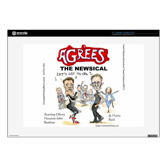 End Of Fiscal Cliff Funny Gifts Cards & Tees Skins For Laptops