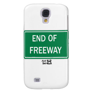 End of freeway road sign. samsung galaxy s4 case